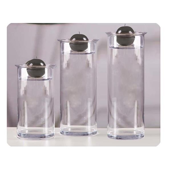 Cylindry szklane idealne jako swieczniki
